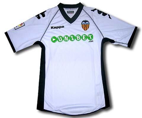 Kappa Valencia C.F. - Camiseta de fútbol para niño, color blanco, 2010-11, 152cm