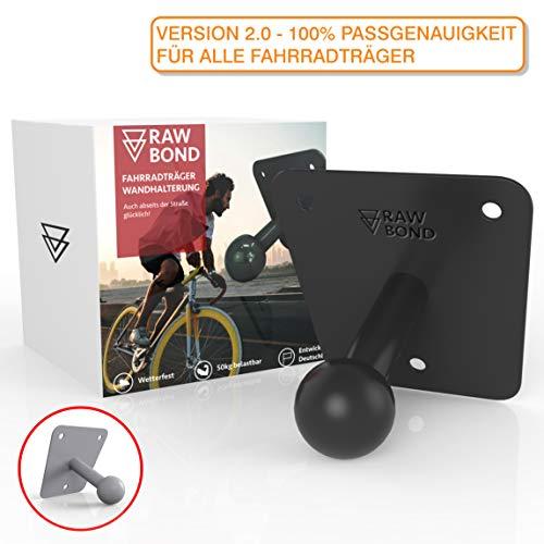 RAWBOND Wandhalter für Fahrradträger | Inkl. Schrauben, U-Scheibe & Dübelsatz | Extra Langer Wandhalterung für deinen Fahrradheckträger | Halterung mit Gratis eBook