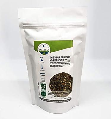 Thé vert fruit de la Passion BIO* Extra fruité - Thé Vert Biologique - Vert Sencha de Chine - 90Gr - Haute Qualité
