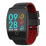 iHome Sport Smart Watch, 3,3cm HD Bildschirm Bluetooth 4.0Große Colorful Sport Smart Armband Blutdruckmessgerät Heart Rate Monitoring Akku groß Armband qs05