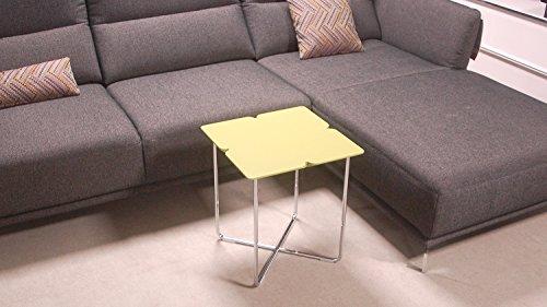 Möbel Akut Beistelltisch ROLF Benz Freistil Couchtisch 195 Design Kleeblatt 42 x 42 cm grauolive