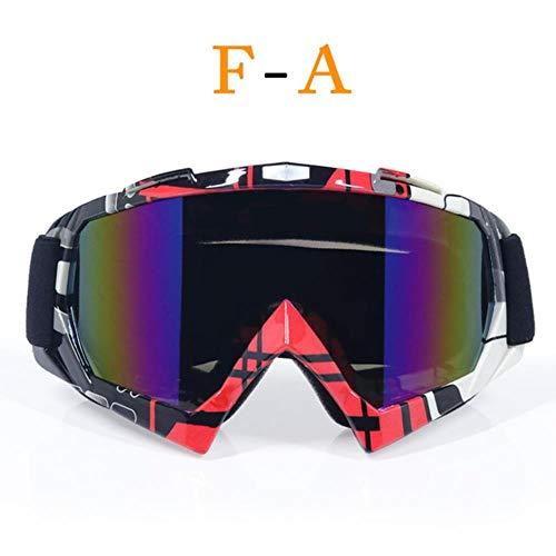fishVendita Occhiali di Alta qualità Casco Moto Occhiali Motocross ATV DH MTB Dirt Bike Occhiali Motocross, E1