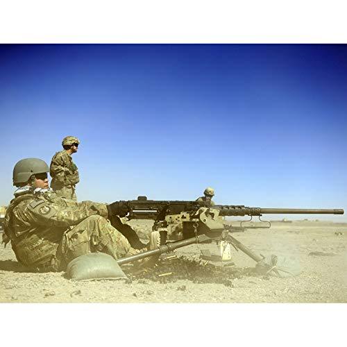 Military USA Air Force M2 50 Calibre Machine Gun Photo Art Print Canvas Premium Wall Decor Poster Mural Militär Vereinigte Staaten von Amerika Macht Fotografieren Wand Deko -