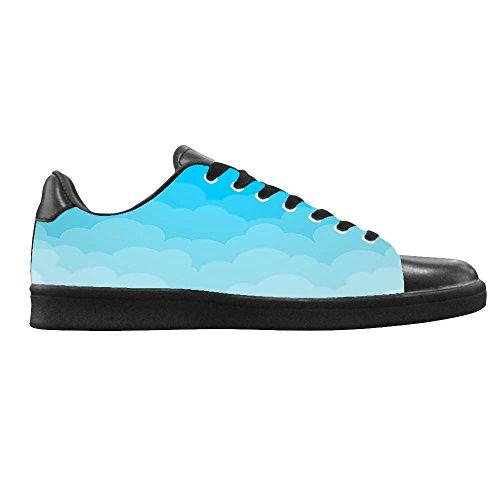 Dalliy Blaue Wolken Men's Canvas shoes Schuhe Lace-up High-top Sneakers Segeltuchschuhe Leinwand-Schuh-Turnschuhe A