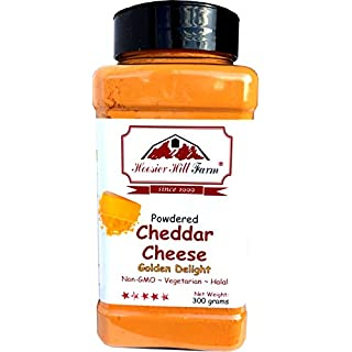 Cheddar Cheese Powdered (300 Grams) Easy Ingredient and Savory Topping by Hoosier Hill Farm