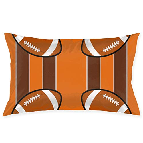Throw Pillow Cases Cleveland Browns Pillow Case Sofa Car Waist Throw Cushion Cover Home Decor Decorative Polyester and Linen Throw Pillow Case Cushion Cover 18x30 Inch