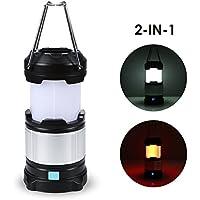 TryLight LED Campinglampe|Tragbare Zelten Laterne|Wasserdicht|4 Lichtmodi| mit USB Wiederaufladbare 4000 mAh Power Bank für Wandern Nachtfischen Stromausfall Notausfall