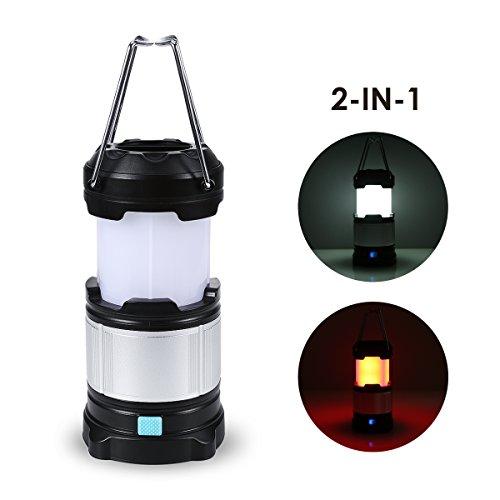 TRYLIGHT Campinglampe, Tragbare LED Camping Laterne Eingebaute mit USB Wiederaufladbare 4000 mAh Power Bank für Outdoor,Wandern, Picknick, Abenteuer