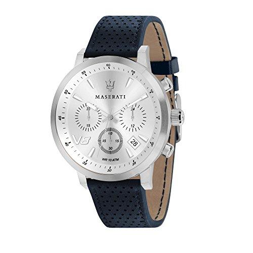 MASERATI Reloj Cronógrafo para Hombre de Cuarzo con Correa en Cuero R8871134004