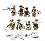 MAGMA BRICK Soldat in Einer Wüste mit taktischer Weste, taktischer OST-und Silber Waffe Kompatibel mit Lego