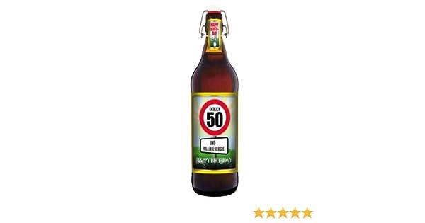 Geburtstag 50 Jahre Herzlichen Gluckwunsch 1 Liter Flasche Mit