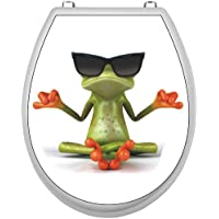 Aufkleber für Klodeckel - Frosch