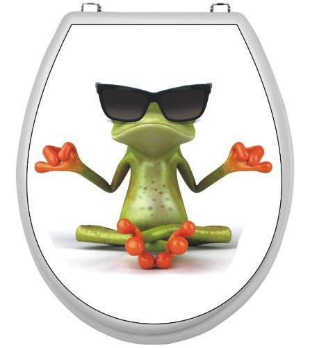 WC-Deckel-Aufkleber Motiv Frosch