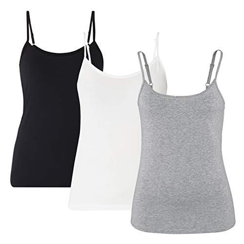 Camisolas Mujeres Inserto Sujetador Camisetas sin