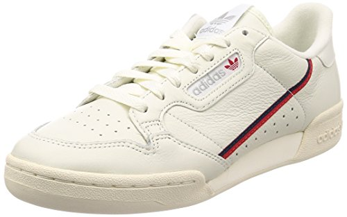 Adidas Herren Continental 80 Fitnessschuhe, Weiß (Tinbla/Casbla/Escarl 000), 43 1/3 EU