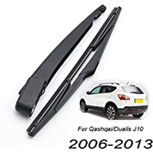 Xukey - Juego de limpiaparabrisas trasero y brazo para Qashqai J10 2007 2008 2009 2010 2011
