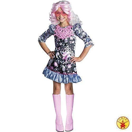 Vondergeist Kostüm Kinder Spectra - Lively Moments Komplettkostüm Monster High Viperine Gorgon mit Perücke Kleid Gr. L = 140