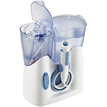 H2ofloss® Irrigador Oral Quiet Design (menos de 50db) con 12 Puntas de WaterJet de Mesa Multifuncionales Para uso Familiar (hf-8whisper)