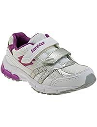 Lotto - Zapatos de cordones de Piel para niño Blanco blanco 1968ee8de8003