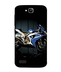 PrintVisa Designer Back Case Cover for Huawei Honor Holly (Mean Machine Wheels Cars Motorcycle)