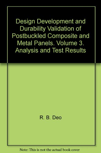 Design Development and Durability Validation of Postbuckled Composite and Metal Panels. Volume 3. Analysis and Test Results