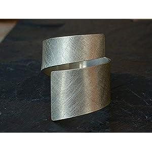 Spiralring Silber eismatt