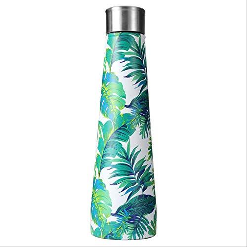 fssdd Blume Edelstahl Wasserflasche Form Flasche Wasserflasche Sport im Freien Travel Cups Kaffeebecher 500ml2 Blumen-cup 2