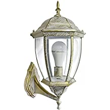 Lanterna da giardino antica lampada a parete applique retrò per