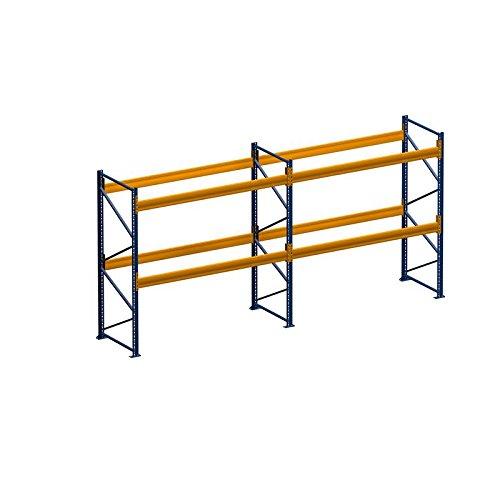 Palettenregal Schwerlastregal 5.60 m x 2.50 m (LxH) - 2 Feld/er Fachlast 2050 kg mit 18 Stellplätze