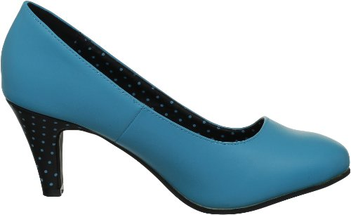 TUK Sweet Jane, Damen Pumps Bleu (Turquoise/Black )