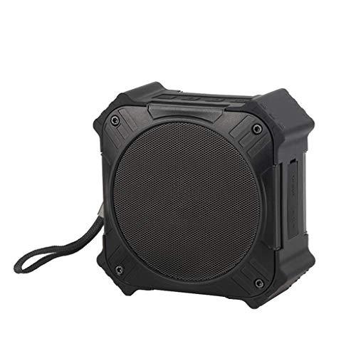 YLACH Bluetooth-Lautsprecher Solar-Powered Bluetooth Speaker Portable IPX6 Waterproof Wireless Speakers Stereo Sound Deep Bass Mic AUX Universal Mobile Phone,Black