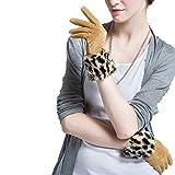 Sección Corta De Terciopelo Von Cerdo Guantes Von Leopard para Mujer Guantes EIN Test in der Welt von Aire Libre Guantes Cálidos Tamaño 25 * 9 cm