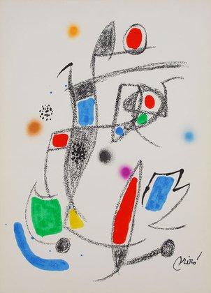 Joan Miro Mara Villas 10Original Litografia Stampa Artistica immagine 50x 35,8cm-Spedizione
