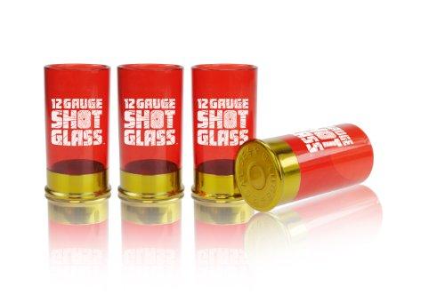 Mustard Schnapsgläser aus Kunststoff - Patronenhülsen-Design - Rot - 12 Gauge Shot Glass