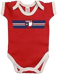 CHILE Patriotic Retro Strip T-Shirt *Elección de Hombre Señoras Niños o Bebé *