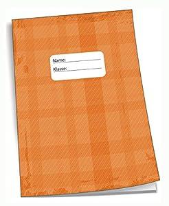 Edition Trötsch 201537 - Cuaderno de Deberes (DIN A5, 96 páginas, con sobre Transparente), Color Naranja