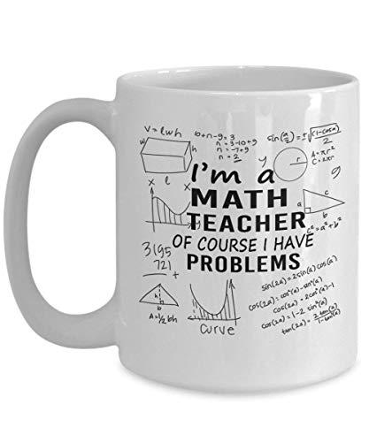 Mathe-Lehrer-Kaffeetasse - Abschluss-Studenten-Geschenk, Mathematik-Geschenk, Mathe-Kaffeetasse, Muttertag, Papa, Herz (Mathe-lehrer Gehen)