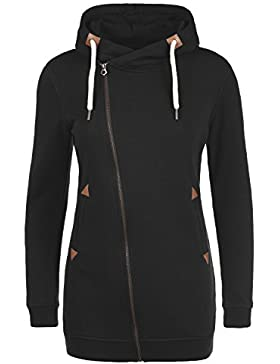 DESIRES Vicky Zip Hood Long Dame