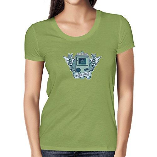 NERDO - Retro Gamer Logo - Damen T-Shirt, Größe M, kiwi