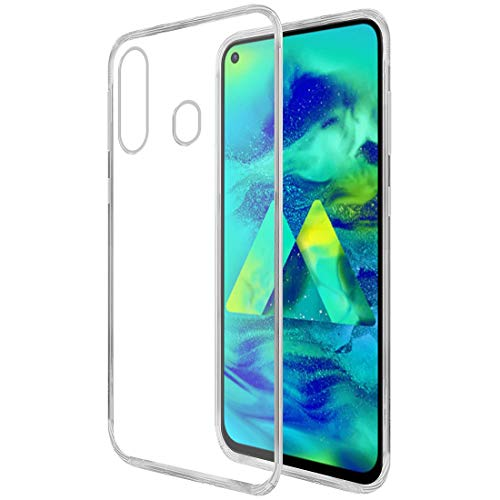Amazon Brand – Solimo Mobile Cover for Samsung Galaxy M40 (Soft & Flexible Back Case), Transparent