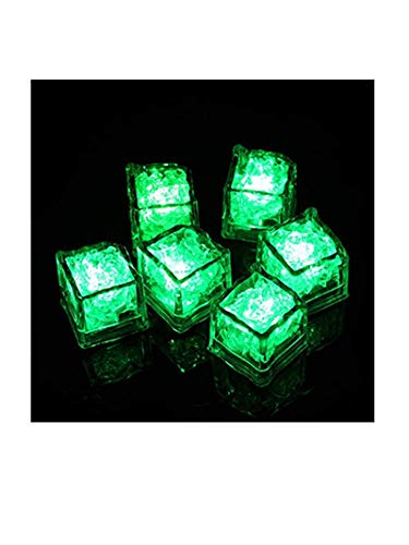 tetes Illuminated Ice Cube,Deko Eiswürfel Leuchtend blinkend im Licht Kunststoff Würfel wasserdicht mit Batterie geeignet für Bar Party Hochzeit (Grün) ()