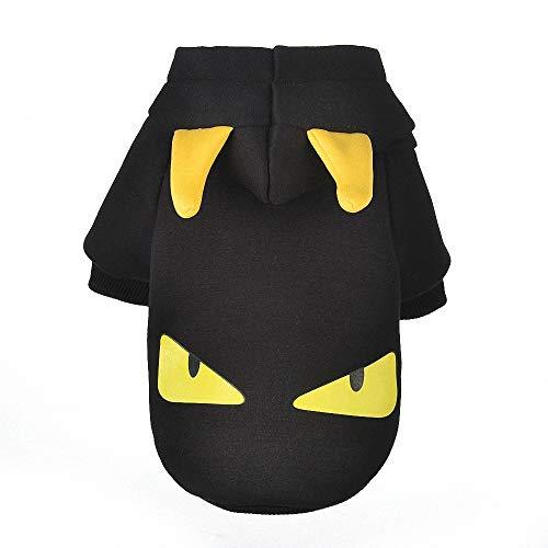 Stilvolle Kostüm Teufel - FZ FUTURE Hund Teufel Pullover, Hoodie Halloween-Kostüm Kleidung, Halloween Haustier Mantel, Cosplay Dress Up, Herbst und Winter warm halten, für Partys Feste-Größe Passend,XL