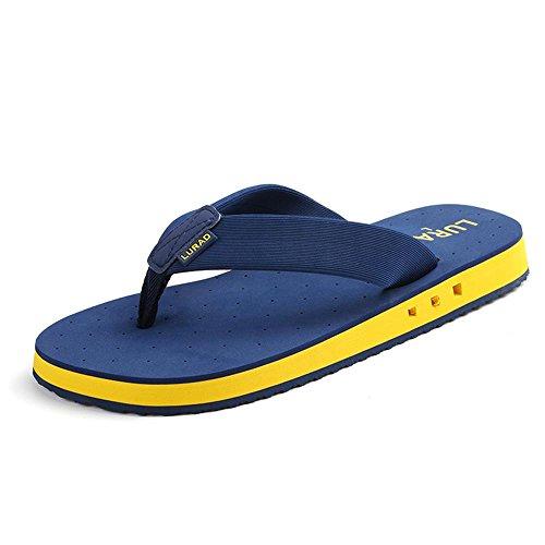 ALUK- Sommer Sandalen - Casual Anti-Rutsch Männer bequeme Verschleiß-resistenten Hausschuhe Strand Schuhe ( Farbe : Blau , größe : 40 ) Blau