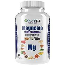 Magnesio Triple Fórmula (Lactato de magnesio+ Citrato de magnesio+ Diglicilato de magnesio) 100 cápsulas