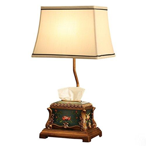 Kaffee Dekorative Aufbewahrungsbox (MOMO Schreibtischlampe Europäischen Speicher Tischlampe Schlafzimmer Nachttischlampen Kreative Papier Handtuch Aufbewahrungsbox Schreibtischlampe)