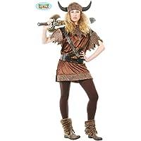 Guirca–Disfraz vikingo Guerriera para adulto, M, 80416
