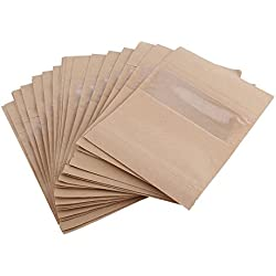 40bolsas de papel Kraft para alimentos, resistente y biodegradable