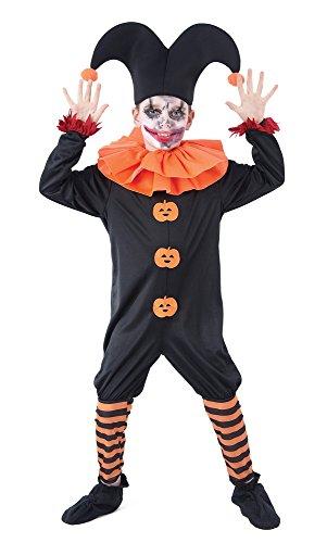 Evil Jester Kostüm Kind - Bristol Novelty Evil Jester Kleid (L) Kinder Alter 7-9Jahre