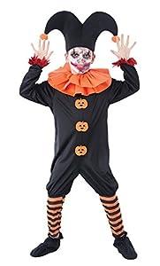 Bristol Novelty CC975 Vestido de Bufón demoníaco, Naranja, Mediano, Edad aprox 5-7 años