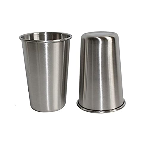 Stainless Steel drinking Cup 17oz 500ml Food-grade Stackable Tumbler Metal Cups for Kids Camping and Hiking 4
